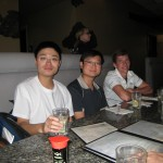 Xiaowen, Chun-Yen, and Will on sushi night